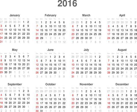 I Calend 2016 Clipart Calendar 2016