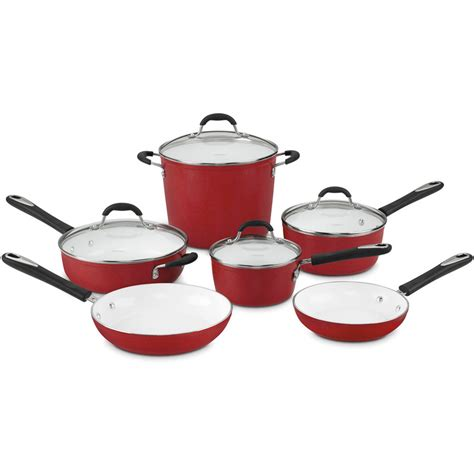 Kitchen Master Set Of 5 Smart Lids Shop Cuisinart 10 Element Ceramic Cookware Set With