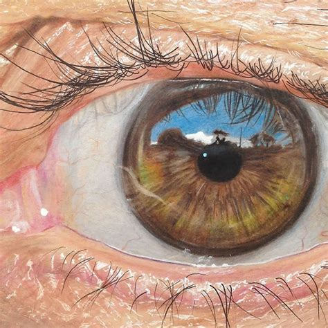 colored pencil art hyper realistic eyes   year