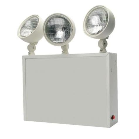 Lithonia Emergency Lighting by Lithonia Lighting 3 Light Steel Incandescent Emergency
