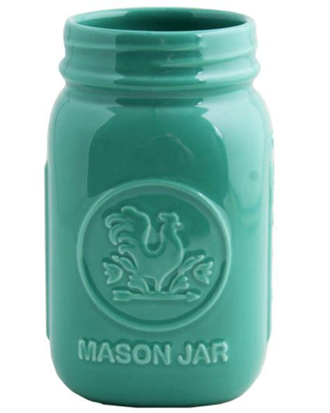 aqua mason jar everything turquoise