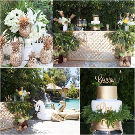 Events That Sparkle A Luau From Suzysogoyan Instagram Birthday Theme Outdoor