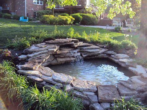 landscaping around a pond flow back to the pond the
