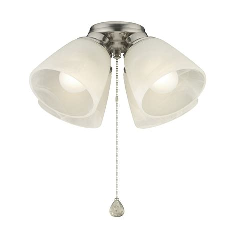 L Shades For Ceiling Fan Lights Shop Harbor 4 Light Brushed Nickel Incandescent Ceiling Fan Light Kit With Alabaster