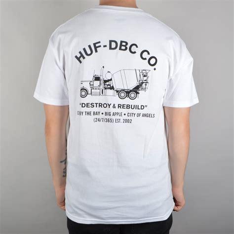 Concrete Lets T Shirt huf concrete mixer skate t shirt white skate clothing from skate store uk