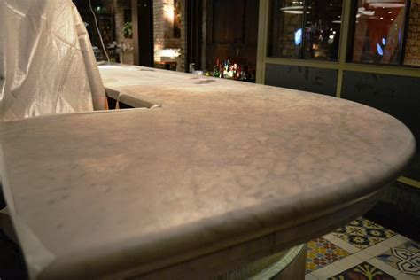 Marble Bar Top by Dull Marble Bar Top Rejuvenated At Manchester Club