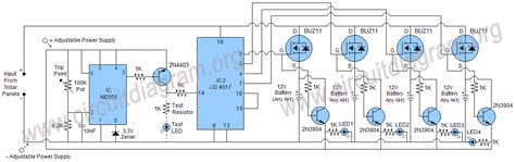 automatic solar charger solar battery charger circuit diagram wiring diagram schemes