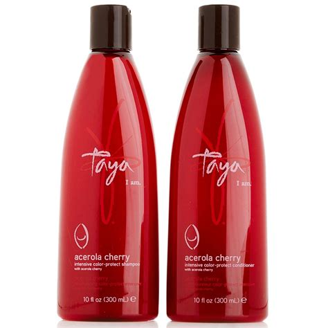 shoo and conditioner for colored hair taya acerola cherry shoo and conditioner duo for