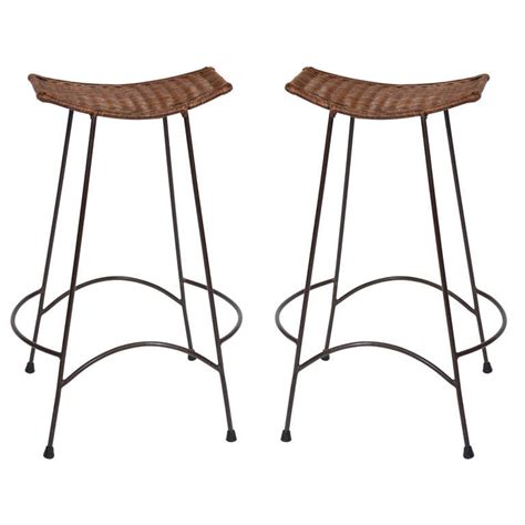 arthur umanoff style bar stools pair of counter height arthur umanoff bar stools at 1stdibs