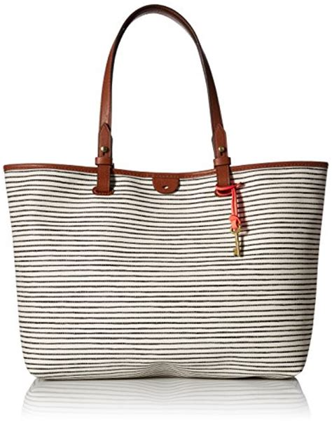 Fossil Rachele Tote Black fossil tote black white store for