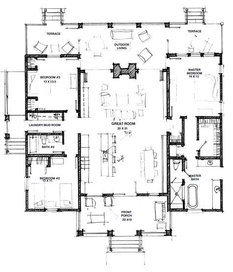 house plan blueprints dog trot house on pinterest southern architecture cabin