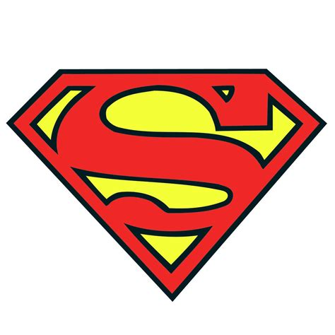 superman logo template for cake superman logo template clipart best