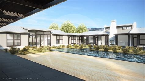 house with pool renders architectural illustration and visualization for exteriors