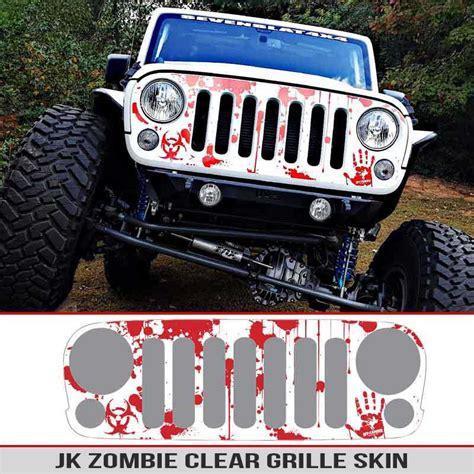 jeep grill decal jeep wrangler jk grille skin splatter alphavinyl