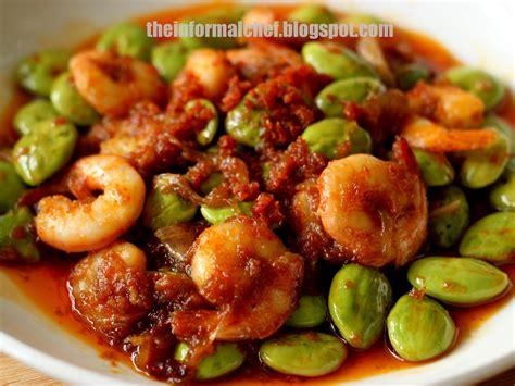 Udang Sambel Pete the informal chef sambal prawns with stink beans sambal