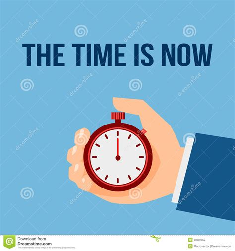 now is the time for dreams books time management stop poster stock vector image