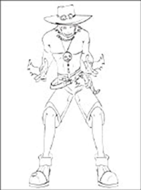coloring page portgas  ace  piece coloring pages