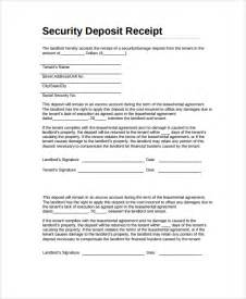 tenant invoice template sle security deposit receipt 8 free documents
