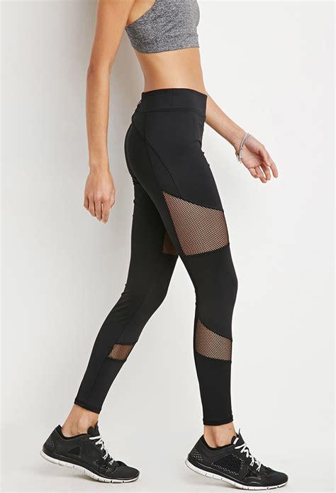 Forever 21 Active Legging Back Mesh Grey forever 21 active mesh insert in black lyst