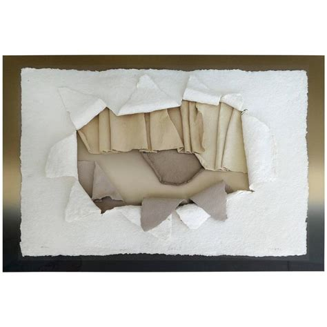 Handmade Paper Wall - 20th century handmade paper wall sculpture incased in