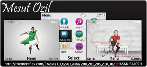 animated themes for nokia asha 210 footballers themes themereflex
