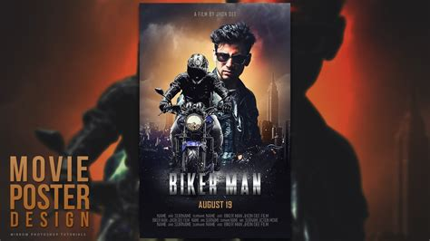 photoshop poster design youtube create a blockbuster style movie poster design in