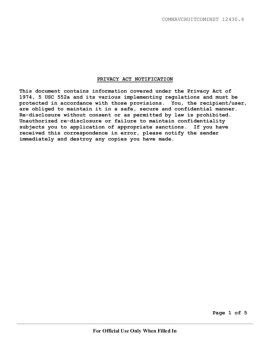 Privacy Act Notification 1974 5 Usc 552a And Its Various