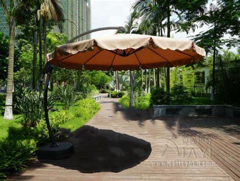 Patio Umbrella Garden Dia 3 Meter Aluminum Deluxe Outdoor Patio Sun Umbrella