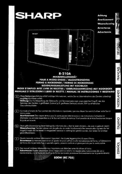 Sharp Microwave Oven R 21d0 sharp r 210 a microwave oven manual for free now