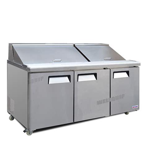 bench fridges for sale buy commercial saladette salad bench 3 door fridge msa64