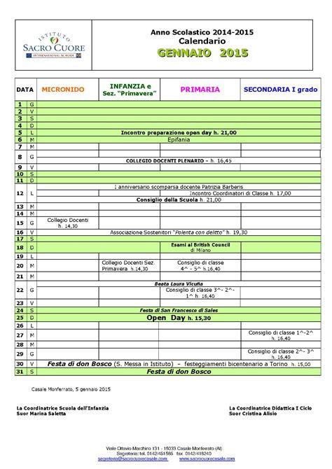 Calendario Gennaio 2015 Calendario Mese Di Gennaio 2015 Una Famiglia Di Famiglie
