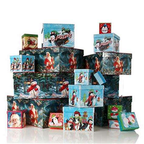 qvc christmas packaging lindy bowman 20 assorted characters gift boxes qvcuk