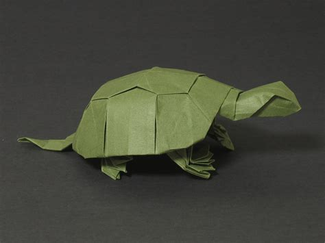 Origami Tortoise - zing origami animals beasts and creatures