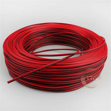 2 awg electrical wire 10m pcs 22awg 2 pin black cable pvc insulated wire