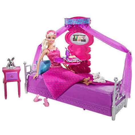barbie bedroom furniture barbie bed to breakfast bedroom furniture gift set doll accessories girl new ebay
