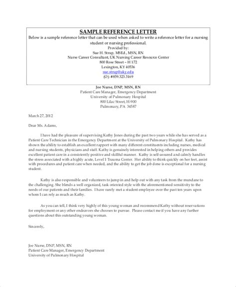 7 Sle Professional Reference Letters Sle Templates Professional Reference Letter Template