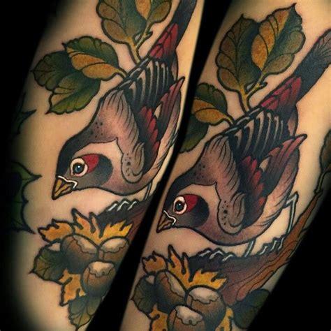 traditional bird tattoo neo traditional bird