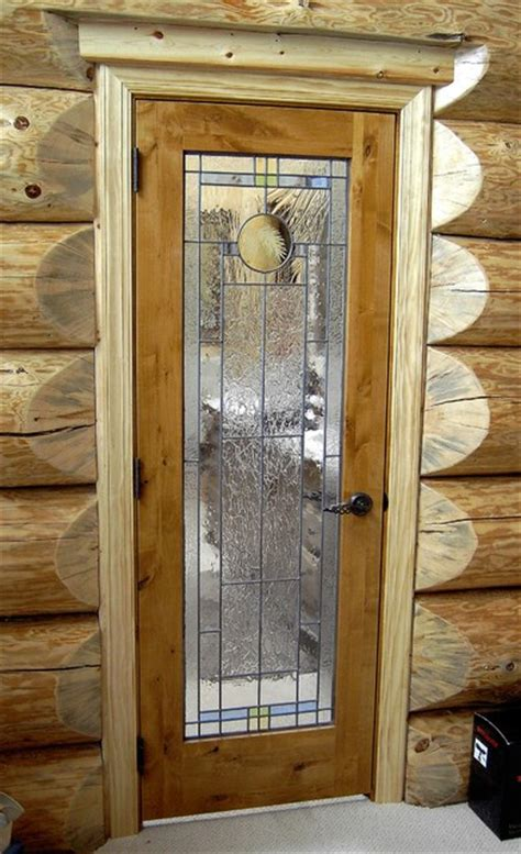 interior door with glass window knotty alder interior door with leaded glass traditional