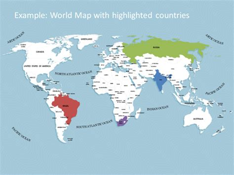 Editable Powerpoint World Map Kit Map Templates With Powerpoint World Map