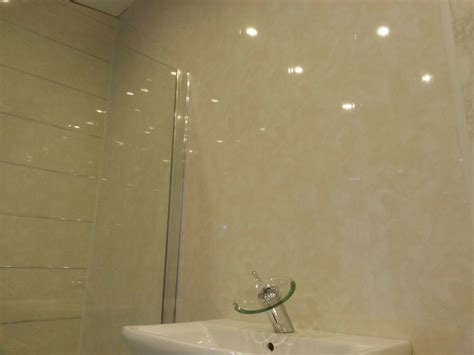Bathroom Plastic Wall Covering - 12 marble bathroom wall panels beige salmon colour pvc