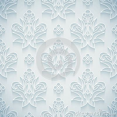 embossed pattern vector embossed white seamless royal floral pattern stock vector