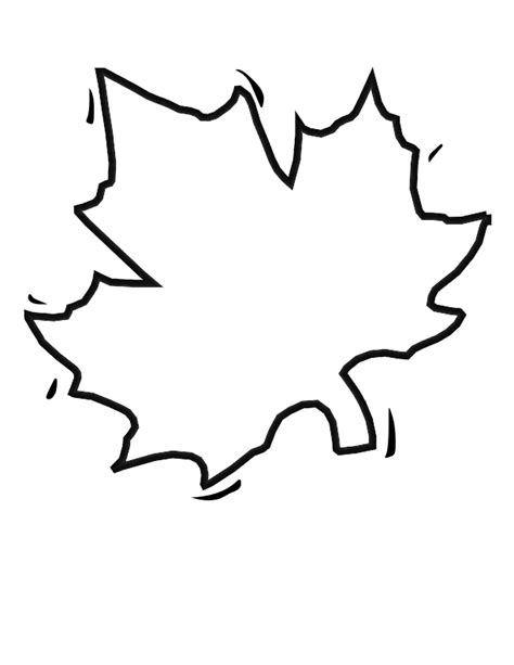 blank leaf template clipart best