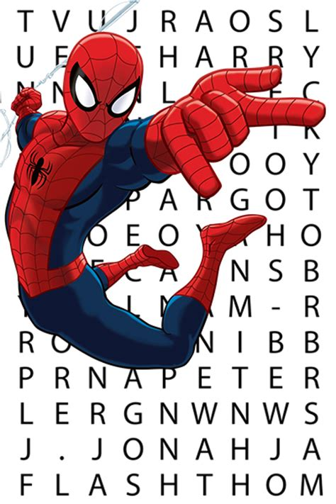 Spider Search Ultimate Spider Word Search Marvel Uk