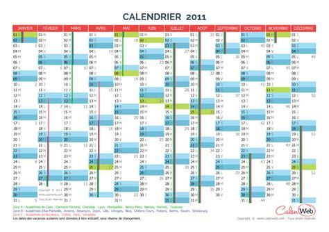 Calendrier Juin 2011 Calendrier Annuel 233 E 2011 Avec Jours F 233 Ri 233 S Et