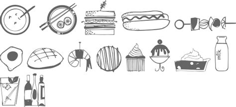 food doodle fonts myfonts typefaces