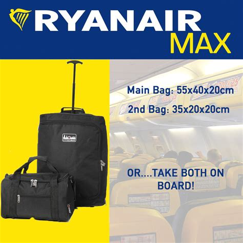 cabin bags size ryanair 35x20x20cm maximum luggage 55x40x20cm hold