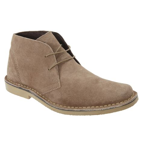 roamers mens real suede classic casual desert ankle boots