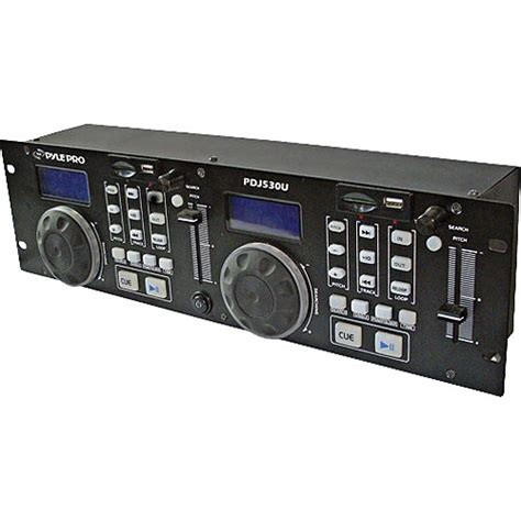 pyle pro pdj350u professional dj mp3 usb sd card player