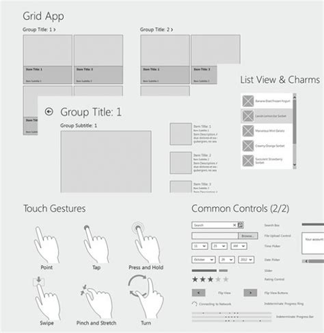 Windows 8 Wireframe Templates Powerpoint Welovesolo Powerpoint Wireframe Template
