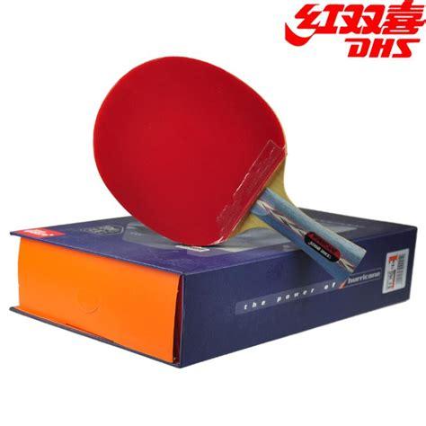 dhs original hurricane 3 table tennis racket with rubber balls bag gift set ping pong bat